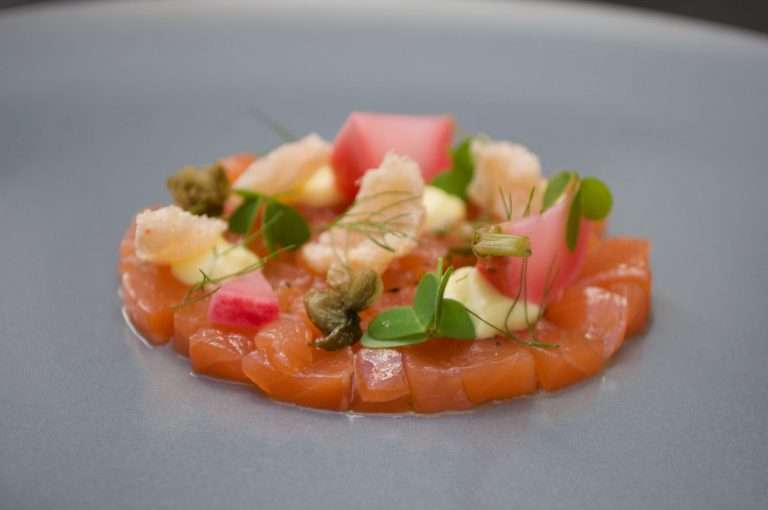 Home-cured salmon, lemon & caper