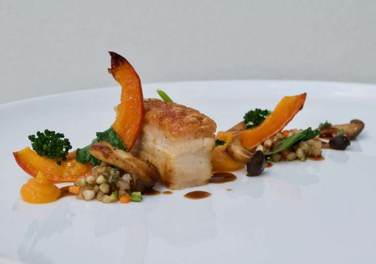 Chalet Artemis -Tailored menus - Private Chef - Pork belly & pumpkin