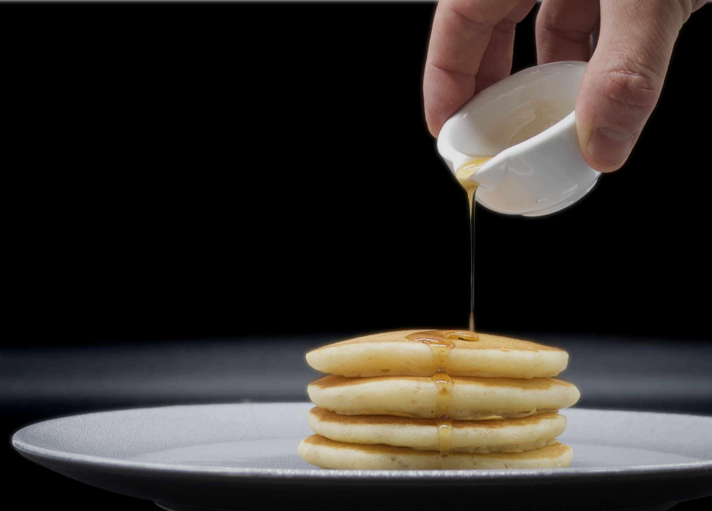 Breakfast pancakes at Luxury Chalet Artemis