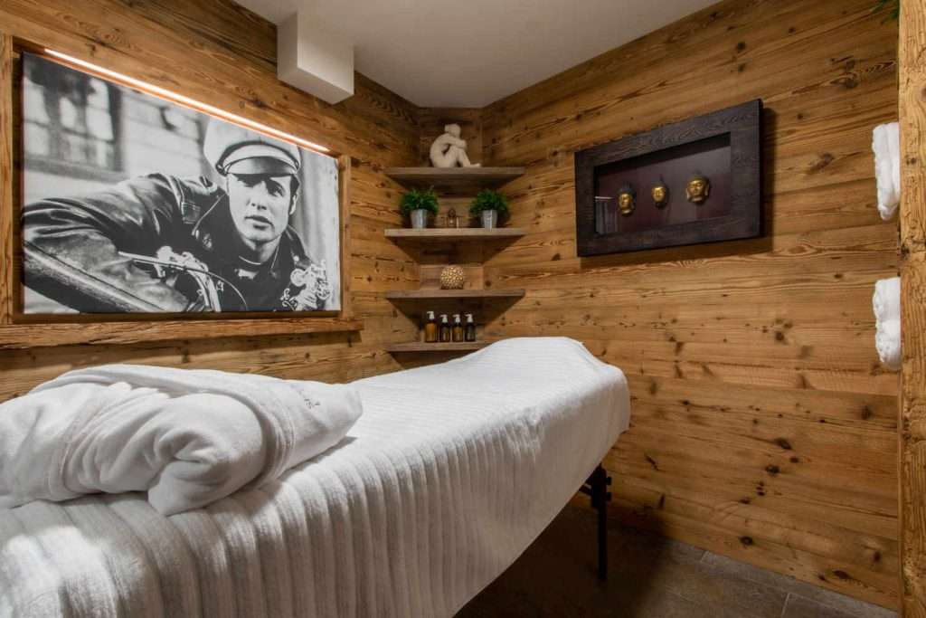 Massage room in Chalet Artemis