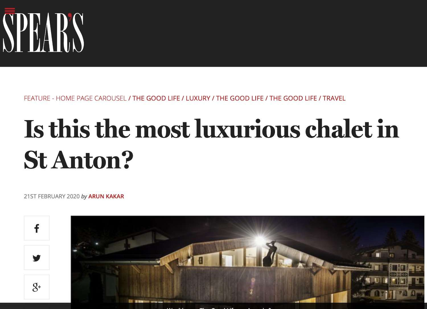 Is this the most luxurious chalet in St Anton - Spears