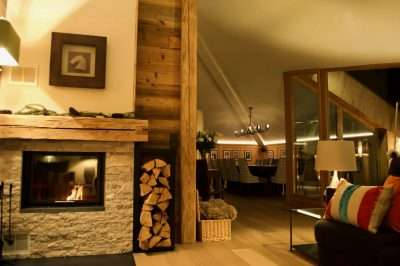 St Anton Luxury Chalet Living room and Dining room